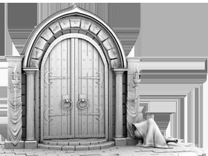 Donjon door